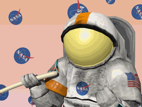 Leekspin but with an astronaut by Darth-Toast