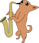 Sketch to 2D: Saxophone Chihuahua by Catali2016