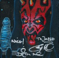 Canvas Darth Maul Autographed by AokiBengal