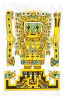 Viracocha Color Print by piratesofbrooklyn