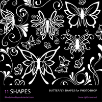 Butterfly Shapes by Bloody-Goodbyes