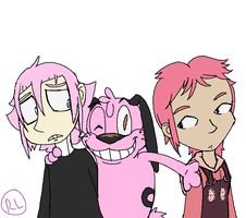 My Pink Haired Baes by RaeLogan