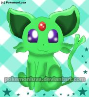 R.: Shiny Espeon by PokemonLuva
