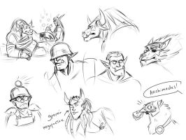 TF2 x WOW more sketches by Kethavel