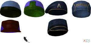 ME3 Hats and caps (XPS) by SonYume
