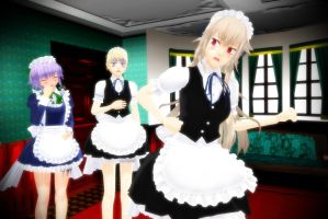 .:Sakuya And Her Assistants:. by Staifia