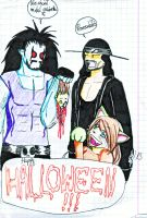 Halloween with Dead Man and Main Man by Adula11