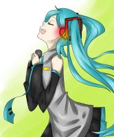 Miku Singing by shadethenighthunter