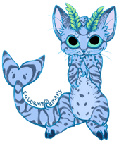 Catpricorn kitty by colormymemory