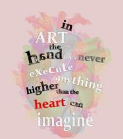 Heart typography by trinaxfantasy