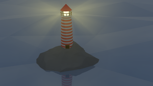 Low Poly Lighthouse by MorphedIllusion