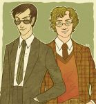 Crowley and Aziraphale by Velven