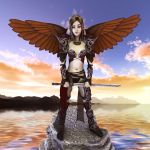 Warrior Angel by brokenangel