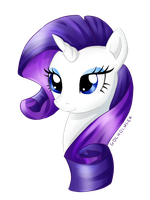My Little Pony - Rarity Headshot 14.04.2015 by gocholudek