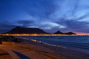 Cape Town at Sunset by parallel-pam