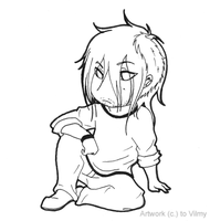 Chibi M lineart by Vilmy