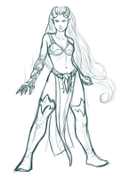 Illiam-hrae sketch by iara-art