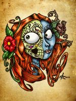 Sugar Skull Sally by vicrosman
