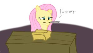 Fluttershy is Terribly Sorry by Cloudyskieswrites