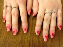 Heart Nail by PMiow