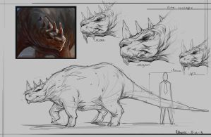 Dino concept sheet by RogierB