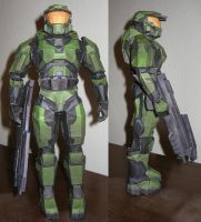 paper Master Chief by mikethegrizzly