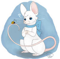 white mouse by DizzyLittleArtist