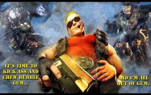 Duke Nukem Wallpaper by SlaveWolfy
