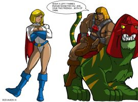 He-Man  meets  POWER GIRL by Misterho