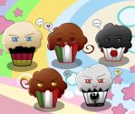 Hetalia Muffins - Axis by MadameNyx