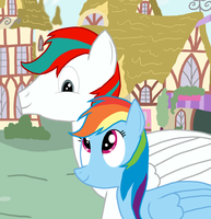 Shiron and Rainbow Dash by mRcracer