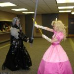 Sephiroth vs. Princess Peach by MandyNeko