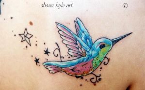 hummingbird tattoo 2 by Shaun-Kyle