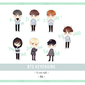 BTS charms ! by Sugalatte