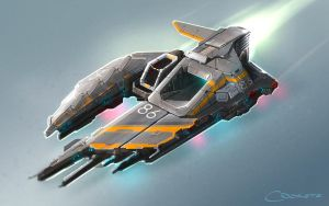 Spaceship #86 - travelling one-seater by CDodez