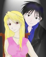 Riza Hawkeye and Roy Mustang by generaltifa