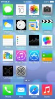 iOS 7 without rounded buttons by laggspike