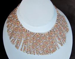 Helmineitsyt 1.0 seed bead necklace by AxmxZ
