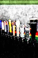 Colorful Beer Taps - Irish-inspired Background by doncarter25