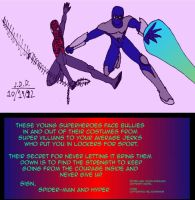 Spider-Man and Hyper team-up against bully by jddishmonart