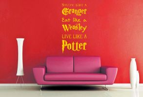 Live Like a Potter Wall Decal by GeekeryMade