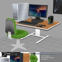 Low Res Game Models - Desk by TheBothan