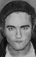 Rob Pattinson In Knit Cap by CezLeo
