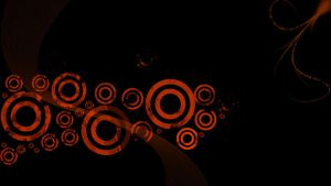 Orange Rings Wallpaper by BizzyBeOne