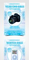 Winter Sale Flyer by pascreative