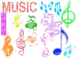 Music Notes Brushes by Fantasticalicious-xX