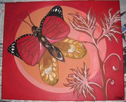 Butterfly Painting by NevaeHLia