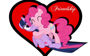 Twilight and Pinkie: Friendship by Paris7500