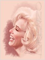 Marilyn Quick Study 1 by LorenzoDiMauro