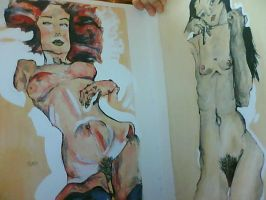 schiele. 2 by cainess